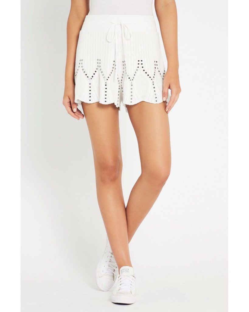 sass and bide Trapeze Me Knit Short Ivory