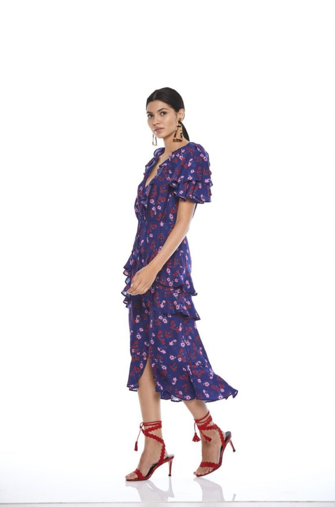 La Maison Talulah The Yearning Ruffle Midi Dress