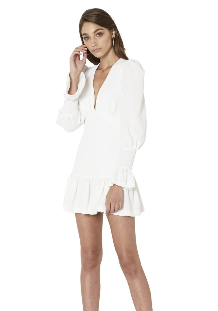 ByJohnny Anna V Tulip Sleeve Dress