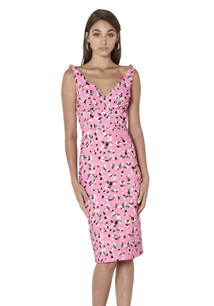 By Johnny Painted Petal Cross V Dress