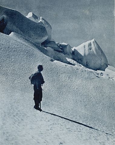 'On the Dart Neve', by JD Knowles. This photograph was the winner of the Alpine category in 1936.