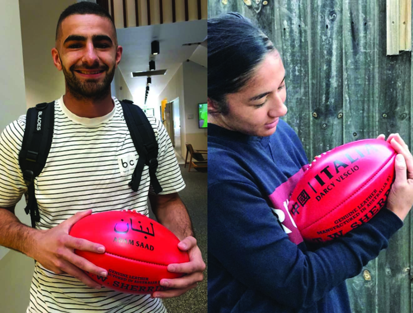 Sherrin's Gift to our AFL Player Ambassadors