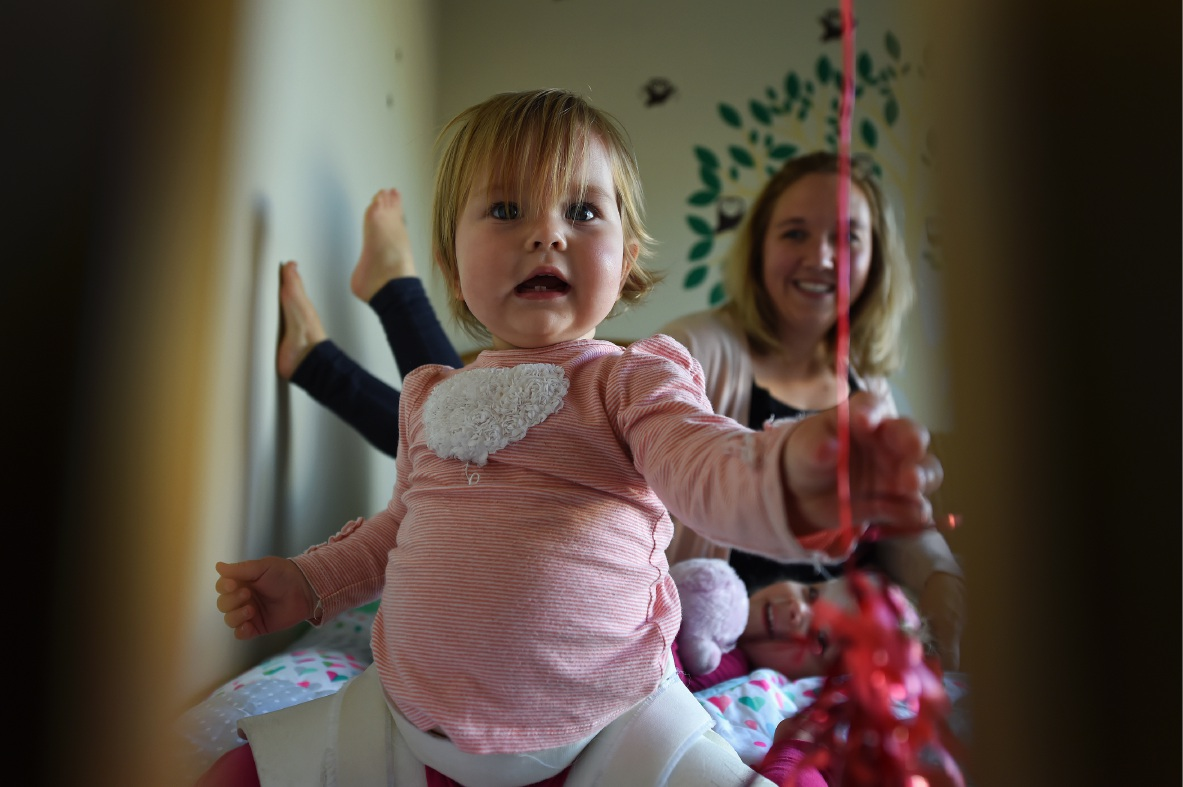 Sarah Twomey with daughters Eve (3) and Maya (14 months).  Picture: Jon  Hewson  d439628