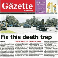 Last year's headline, which called for the upgrade of a notorious intersection after the death of a motorist.