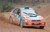 WA Rally Championship leader Leigh Hynes navigates the dirt section. Picture: Ben Crabtree