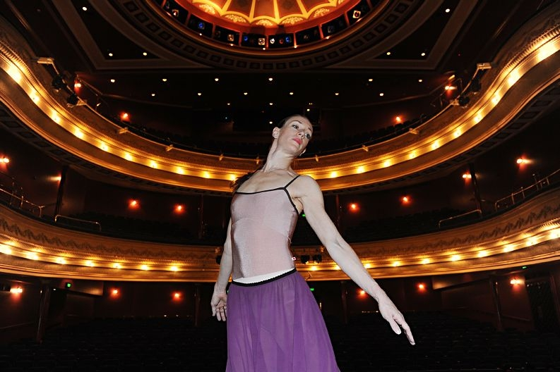 Ballerina Jayne Smeulders backstage at His Majesty's Theatre Picture: Marcus Whisson www.communitypix.com.au d408583