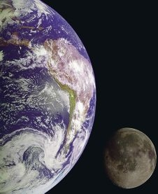 The Earth also reflects sunlight, called Earthshine.