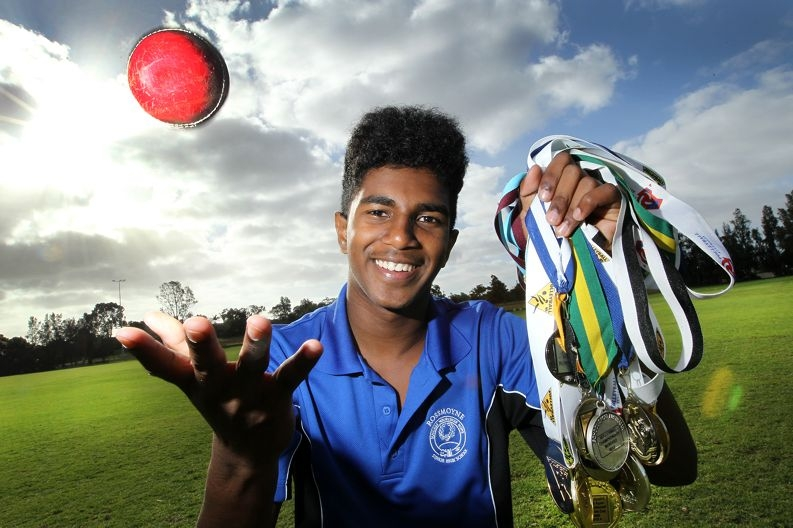 Devin Liyanage has not limited himself to a single sport. Picture: Marcelo Palacios www.communitypix.com.au d408375