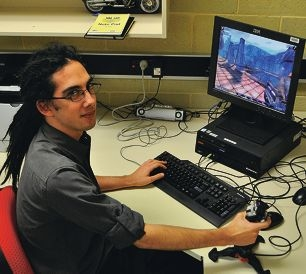 James Brooks is researching the merit of computer games.