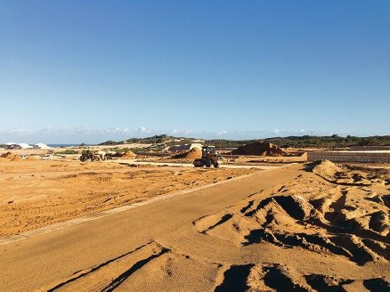 Land in the City of Joondalup at Burns Beach is being transformed into housing estates.