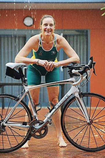 Suzzanne Laidlaw will compete at the World Triathlon Championships in London despite suffering from heart disease. Picture: Marcus Whisson d406662