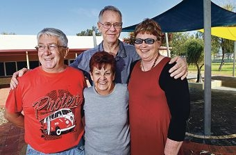 Singleton Resident's Association members Brian Preston, Lorraine Cranch, Roger Jefferson and Margaret Tysoe. Picture: Elle Borgward d409121