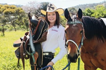 Taya Hill is very much in her element when on or around horses.