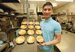 Andy Le served up a few winners at the Great Aussie Pie Competition. Picture: Matt Jelonek www.communitypix.com.au d408855