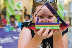 Lexi Rodgers (8 yrs) took part in the Ocean Keys Shopping centre Popstick house competition