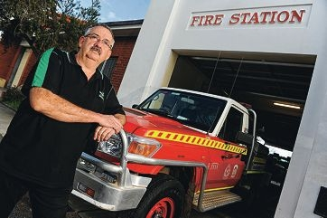 Spirit still burns: Bassendean Volunteer Fire Brigade captain Mike Smith is considering joining another emergency service. Picture: Marcus Whisson www.communitypix.com.au d404708