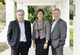 Main picture: Tony Romano, Lee-Anne Smith and Kevin Allen. Top: Bart Houwen.