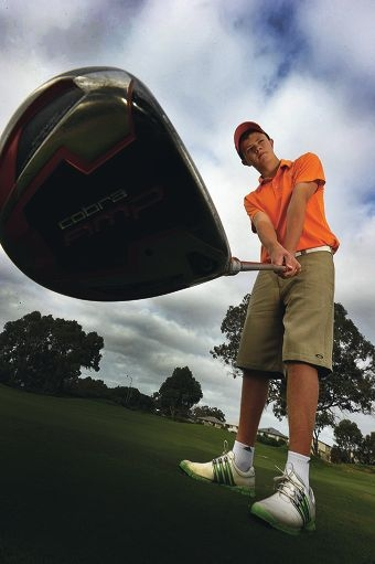 Multi-talented Lewis Tolley wants to improve on his tidy 85 for 18 holes and one day play golf professionally. Picture: Jon Hewson www.communitypix.com.au d408576