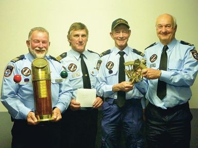Mandurah Water Rescue Group vice-commander Ian Warman, commander Barry Walton, public relations officer Ray Rudland and training officer John Curran.