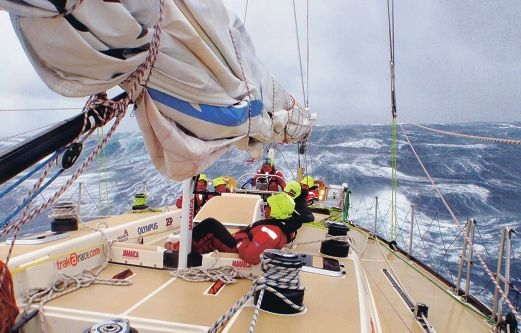 One of the race yachts battling rough conditions in last year's race. Picture: Clipper Race