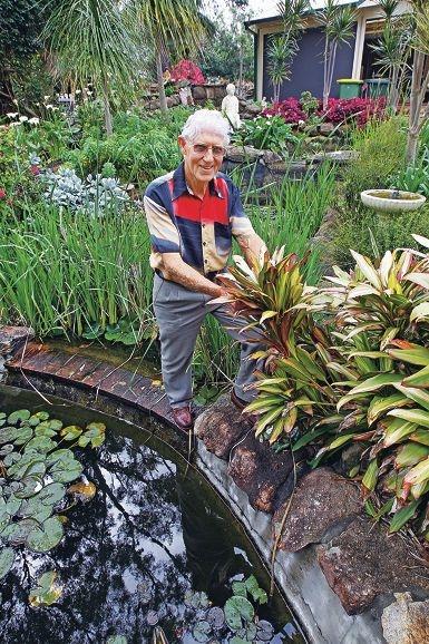 Tom Hogg in his beloved Maida Vale garden.