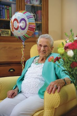 Frieda Sullivan, who turned 100 on Friday, still leads an active life.