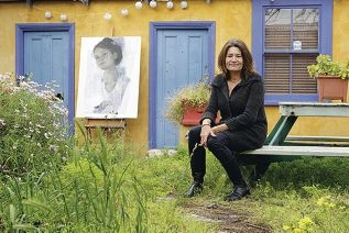Black Swan candidate and East Fremantle artist Camilla Loveridge said it was a real shot in the arm for artists to be recognised. Picture: Martin Kennealeyd407975