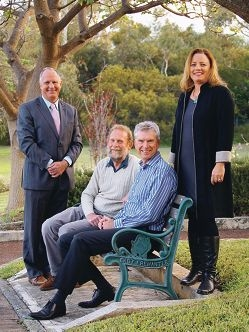 Vote for me: East Fremantle mayoral candidates Jim O'Neill, Cliff Collinson, Barry de Jong and Alex Wilson.