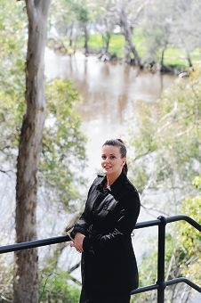 Retiring Town of Bassendean councillor Kara Collins at Success Hill Reserve. Picture: Marcus Whisson d408197