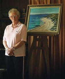 Departing Trigg Art Club member Raema McMillan.