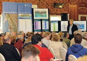 Joondalup chief executive Garry Hunt listens to questions from the community at a forum last month.