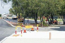 Construction work at Mullaloo Surf Life Saving Car Park.