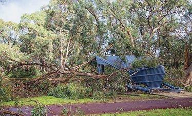 Storm damage in Secret Harbour. Picture: Perth Weather Live - Steve Brooks