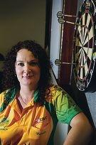 World challenge... Natalie Carter is Australia's reigning women's darts champions. d406805