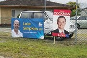Election posters.