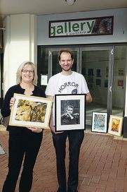 Renata Wright and Harry Davies will host an exhibition at Blend(er) gallery. Picture: Emma Reeves www.communitypix.com.au d406887
