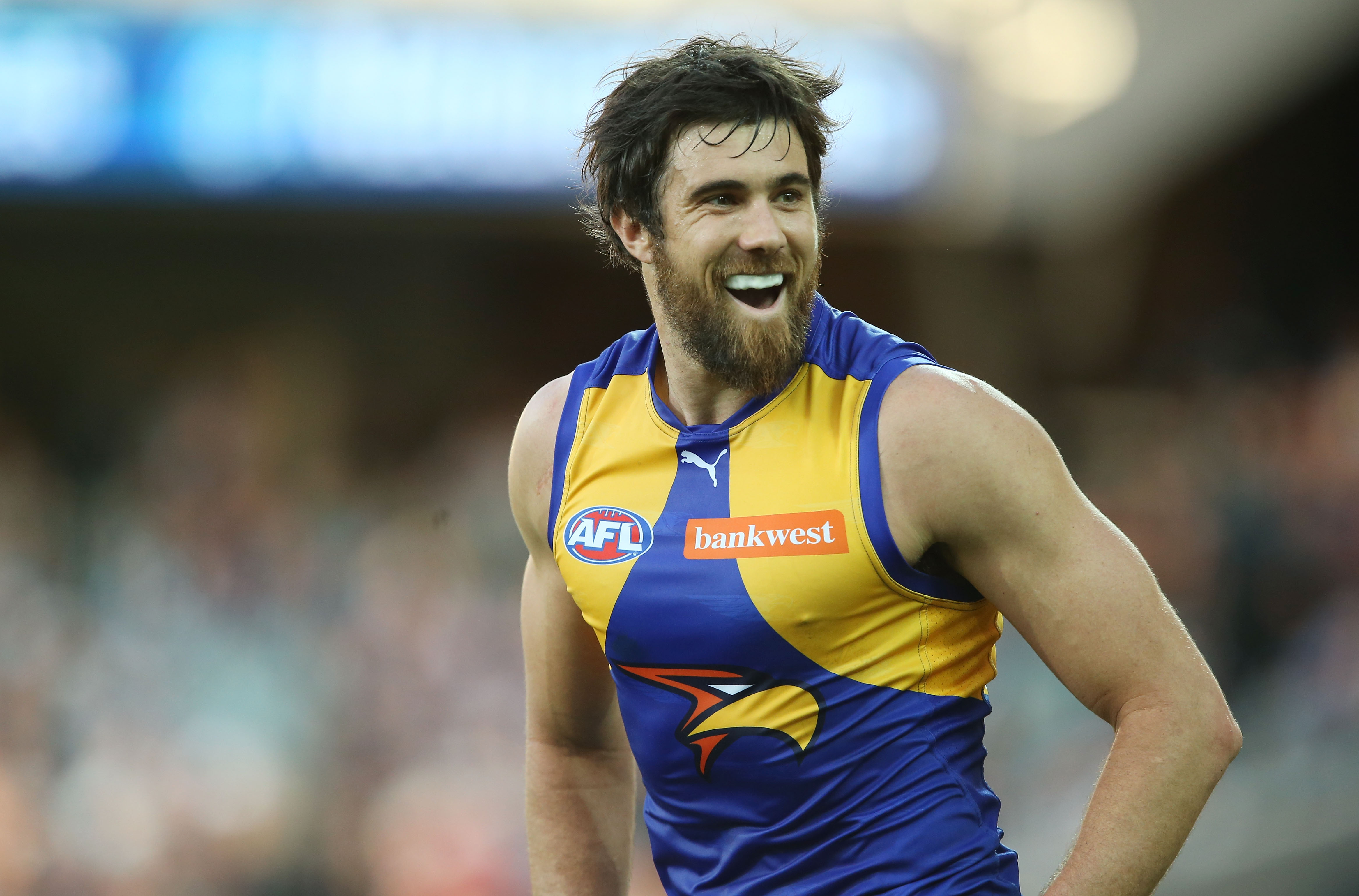 West Coast Eagles' Josh Kennedy . Picture: James Elsby/AFL Media/Getty Images