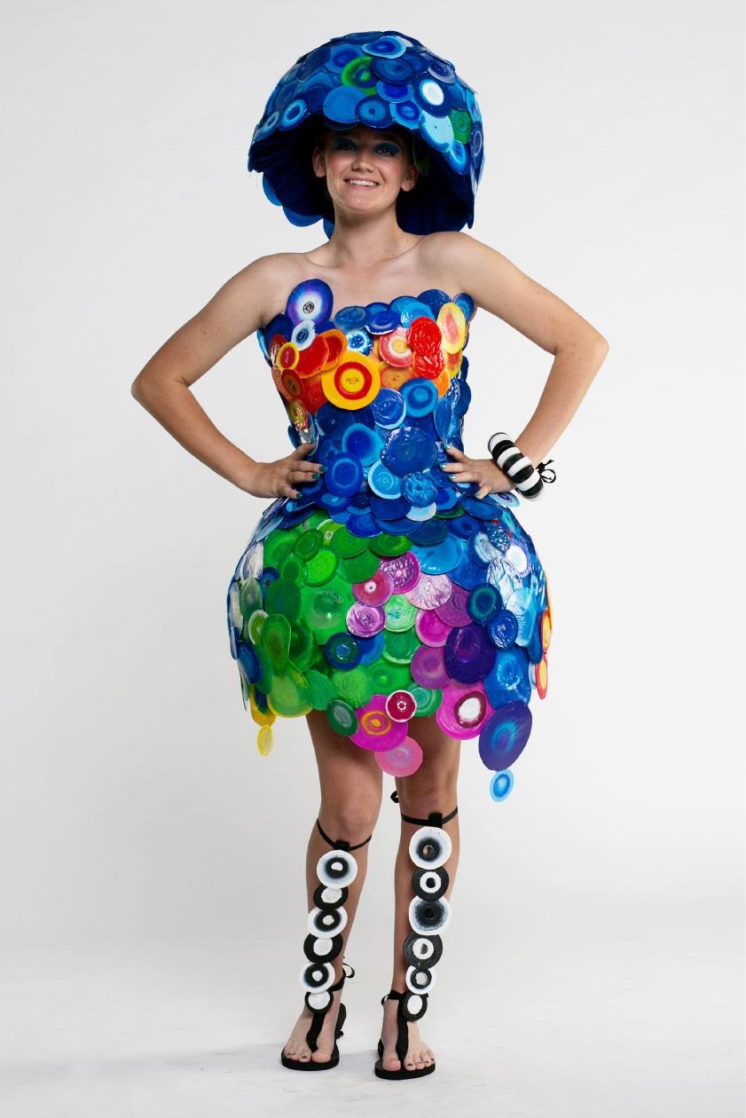 Bertram artist Jacq Chorlton's winning garment A Dress to Im'press'. Picture: Travis Hayto
