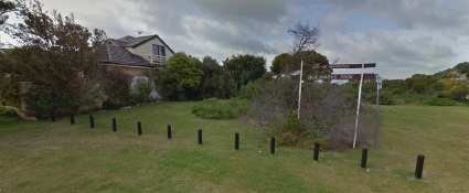 Marissa Phillips' fence line before and after the trees were removed.