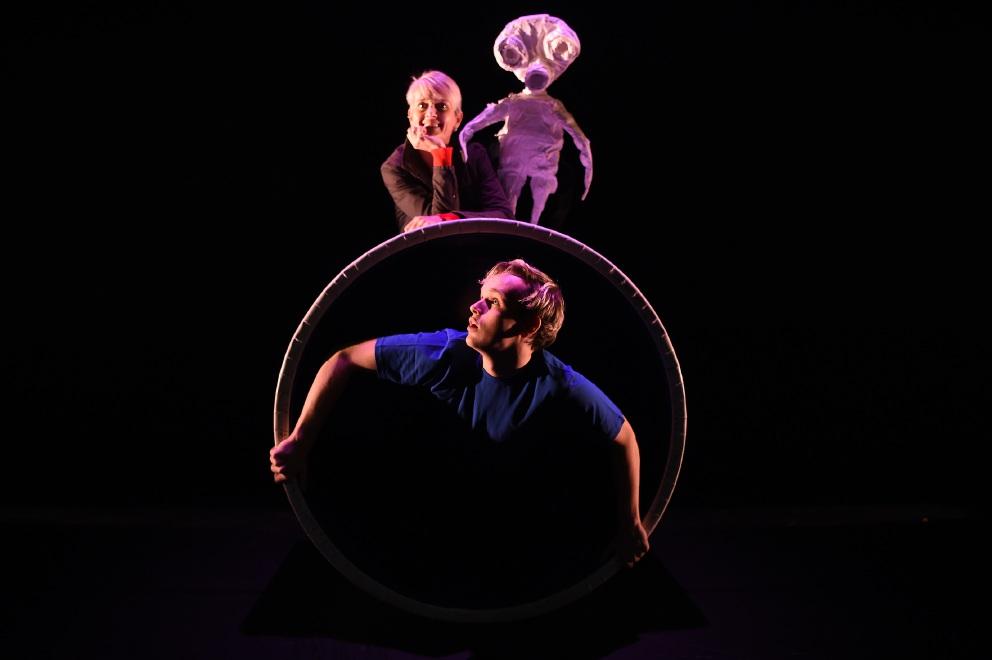 Splat! writer Sally Richardson and performer Yvan Karlsson. Picture: Jon Hewson d455677