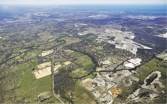 A bird's eye view of Ellenbrook taken last year.