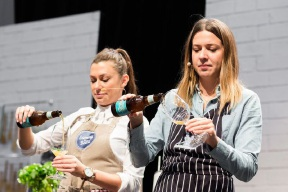 Former My Kitchen Rules winners Sammy and Bella Jakubiak will be at The Good Food and Wine Show next weekend.