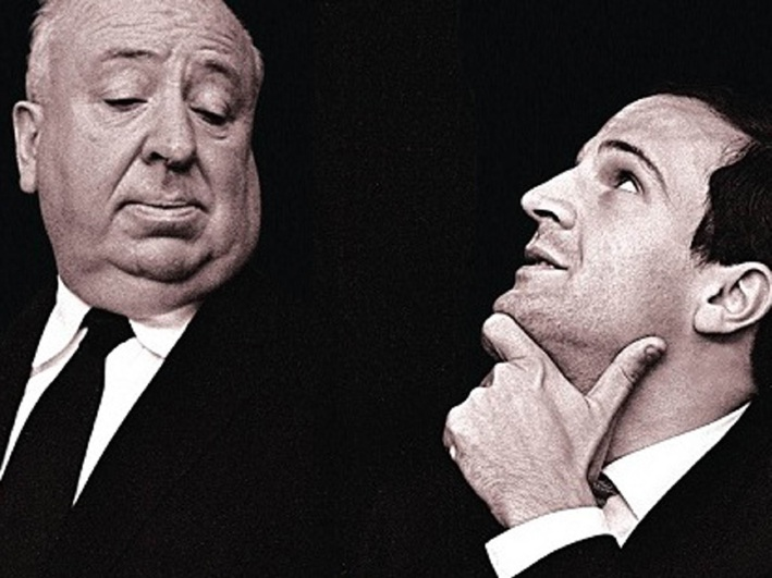 Alfred Hitchcock and Francois Truffaut.