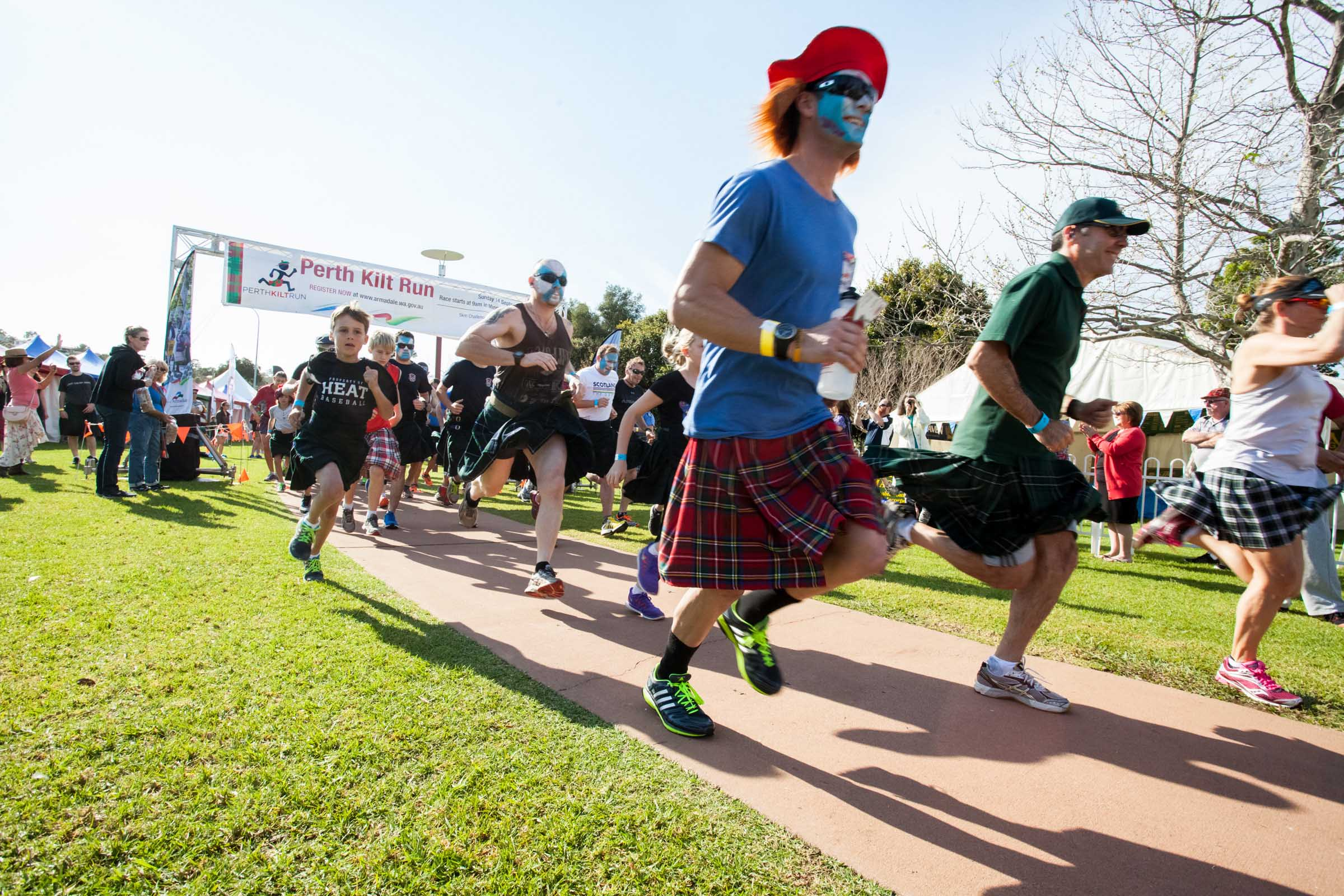 The 2015 Perth Kilt Run attracted participants from across the city. Pictures: Matt Devlin.