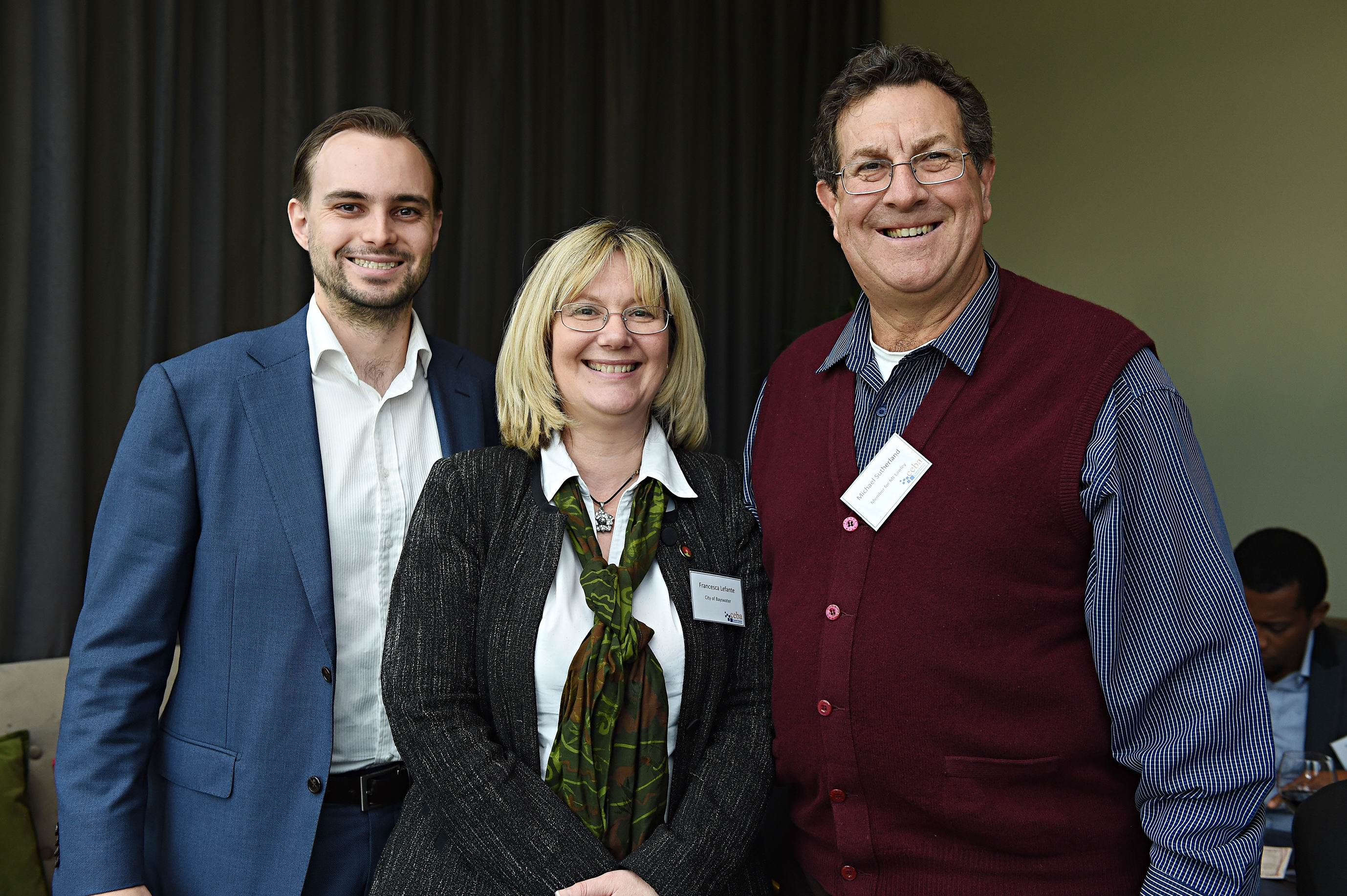 City of Bayswater's outgoing chief executive Francesca Lefante, pictured in 2014 with Cam Sinclair and Michael Sutherland.