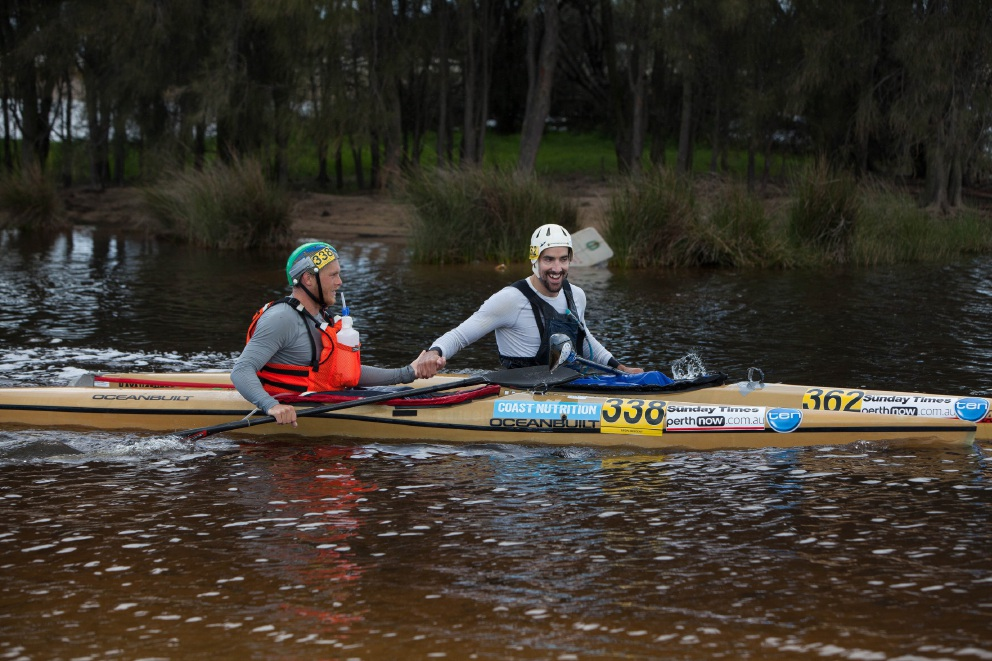Avon Descent 2016: winning paddlers withstand harsh weather