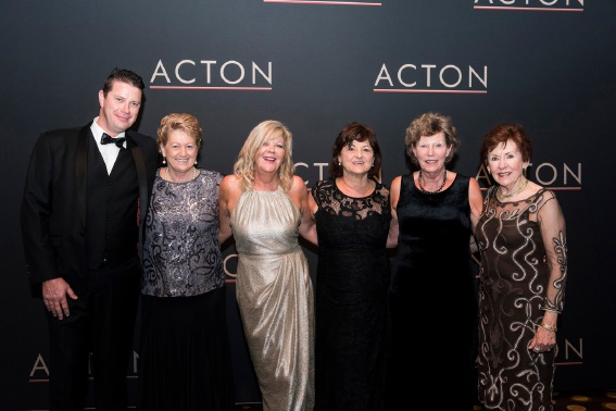 Acton award winners: Simon Pattullo, Helen Rowles, Kerry Davey, Pauline Couanis, Joan Gebbie and Lorraine Potter.