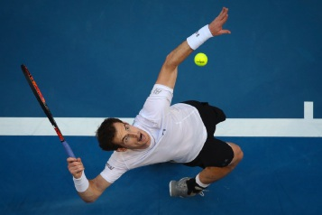 Andrew Ritchie's award-nominated photo of tennis star Andy Murray.