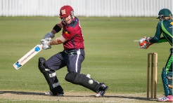 D'Arcy Short bats during the match between the National Indigenous Development Squad and the Southern Stars at Allan Border Field in 2015. Picture: Glenn HuntGetty Images