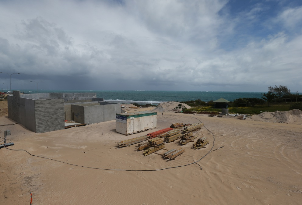Works stalled on the Yanchep Surf Life Saving Club.